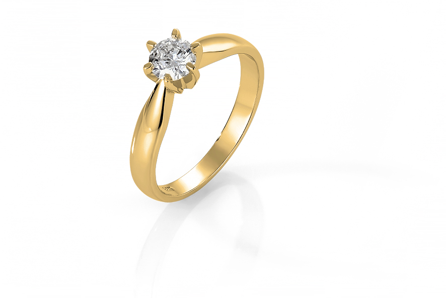Bilde av Diamant ring Solitaire 0,50CT