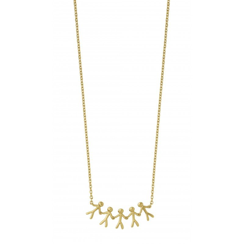 Bilde av Together - Family necklace 5 - gold